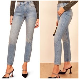 New Reformation Julia High Waist Cigarette Jeans